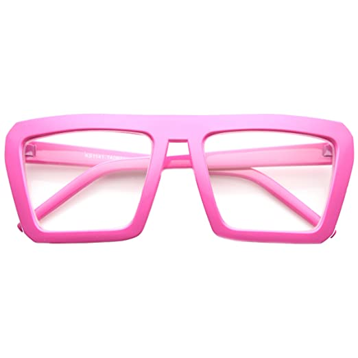 0093bab95a61a Amazon.com  Fashion Frame Flat Top Blaster Frame Horn Rimmed Style ...