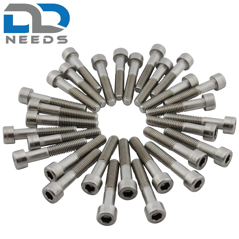 D2D M3 x 18 Zylinderkopfschrauben Zylinderschrauben mit Innensechskant DIN 912 VPE: 10 St/ück Edelstahl A2 V2A