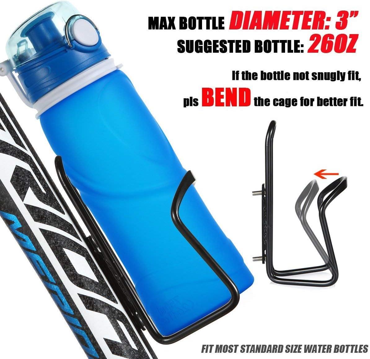 Basic MTB Bike Bicycle Alloy Aluminum Lightweight UShake Water Bottle Cages