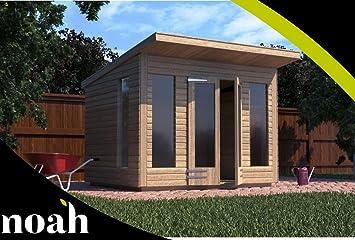 Caseta de verano de madera para jardín, muy resistente, 2, 4 x 1, 8 m (personalizable): Amazon.es: Jardín