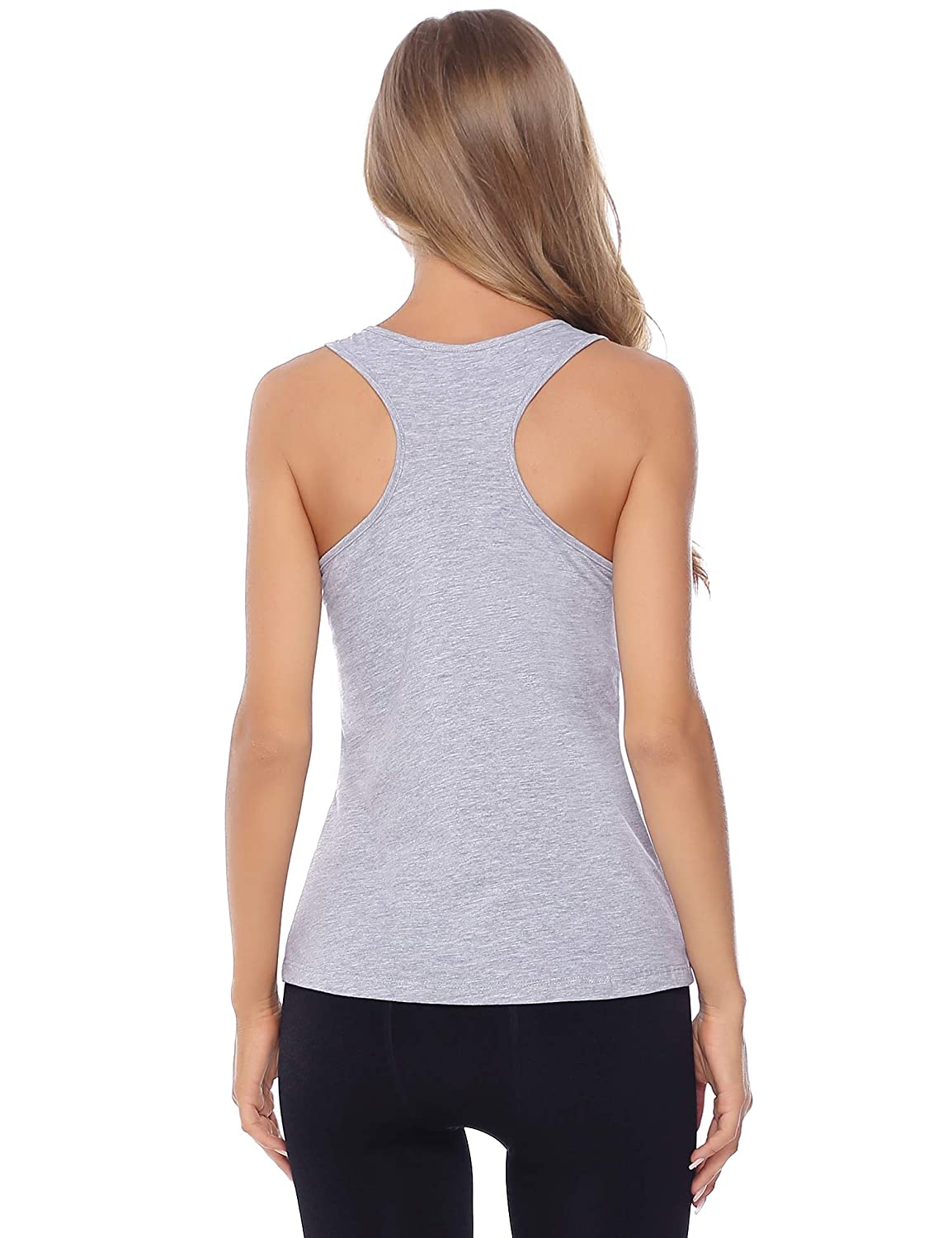 Hawiton 2 Packs Ladies Knit Tank Vest Top 100/% Cotton Loose Fit Relaxed Flowy for Women and Juniors-2 pcs