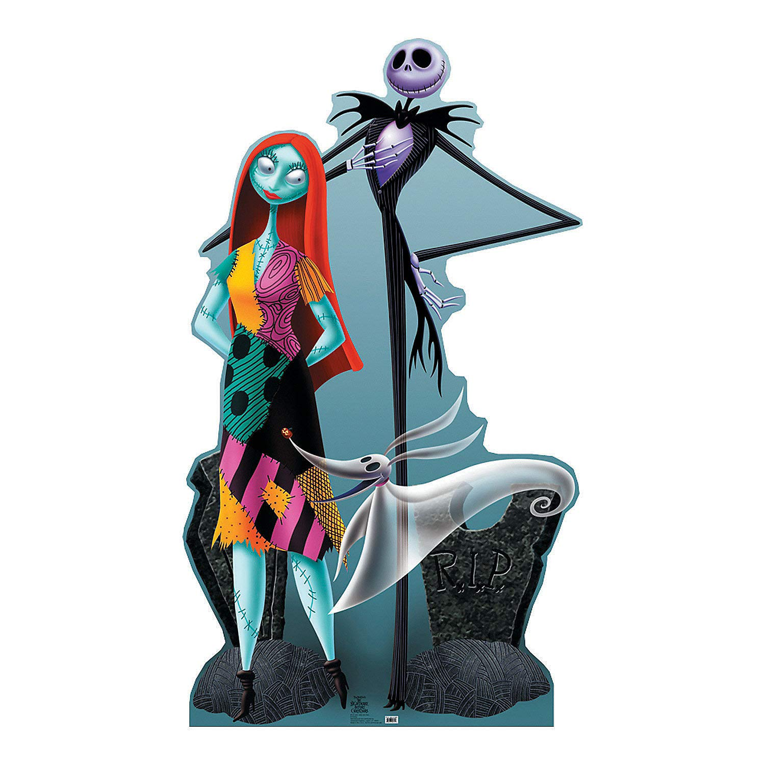 Fun Express - Jack & Sally Standup - Party Supplies - Licensed Tableware - Misc Licensed Tableware - 1 Piece