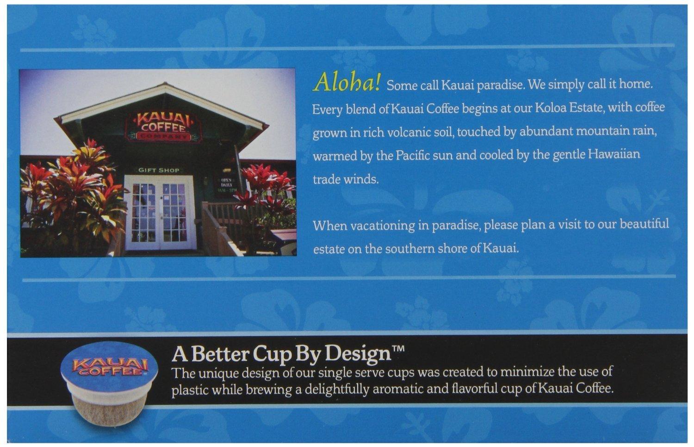 Kauai Coffee Single-serve Pods, Na Pali Coast Dark Roast - 100% Premium Arabica Coffee from Hawaii's Largest Coffee Grower, Compatible with Keurig K-Cup Brewers - 72 Count by Kauai Coffee