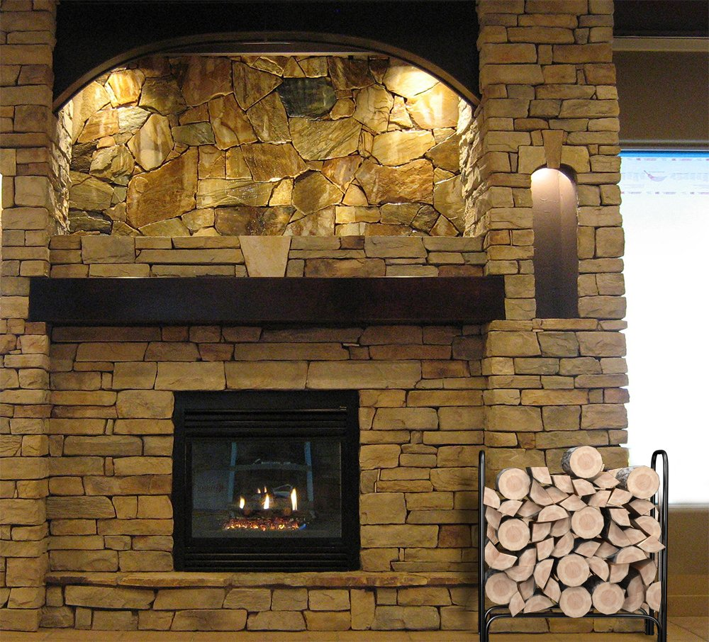 amazon com firewood log rack steel holder 4 feet outdoor