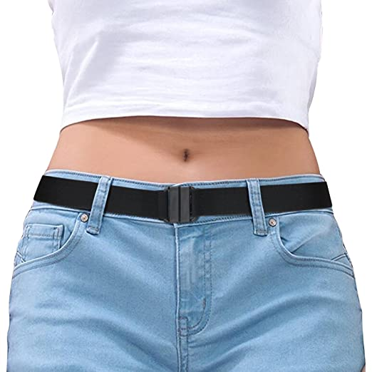 f7741ffe93 Invisible Belt for Women Black Stretch No Show Belt Adjustable for Dress  Jeans Pants