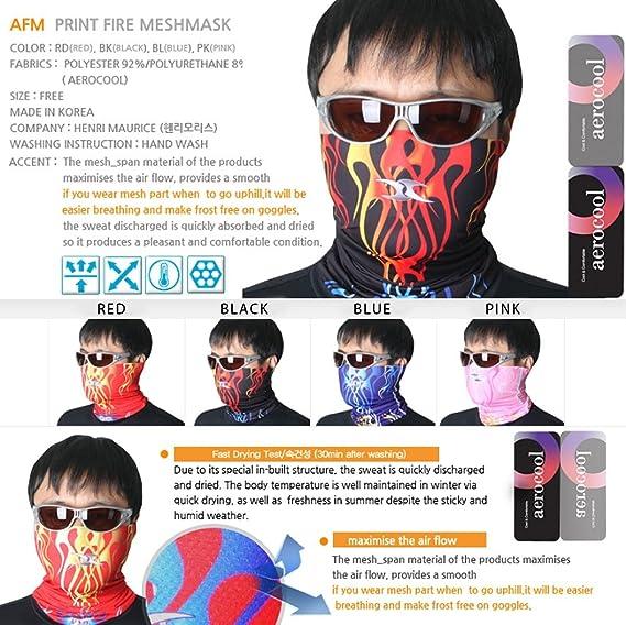 NECK HEADWEAR BANDANA COOL MULTI SCARF TUBE MASK Flame Mesh UV Protection AFM