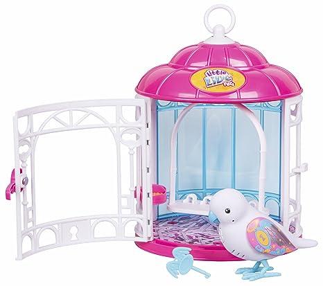 Little Live Pets Birds PARLANCHINES mit seinem Käfig. Reihe 7. Secret Angie (Berühmte) (700013973)