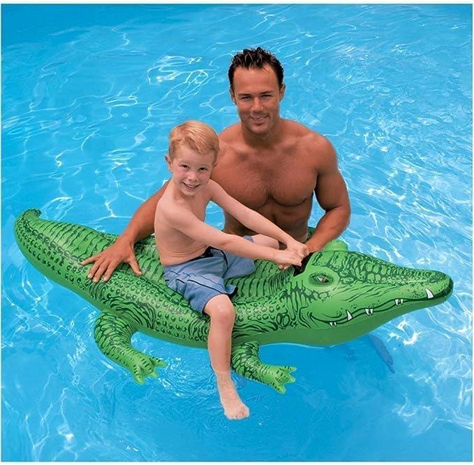 OOLOOYOO Flotador Inflable para Piscina, cocodrilo Inflable - 168x86 cm: Amazon.es: Deportes y aire libre