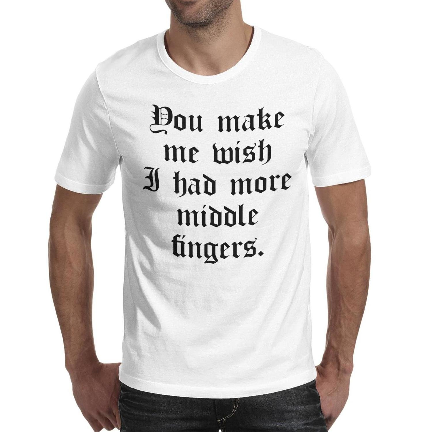 Weedee Middle Finger Vintage T Shirts For 90s