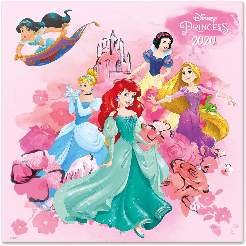 Erik Disney Princess Classics, Calendario de pared 2020 (incluye póster de regalo), 30 x 30 cm, Multicolor