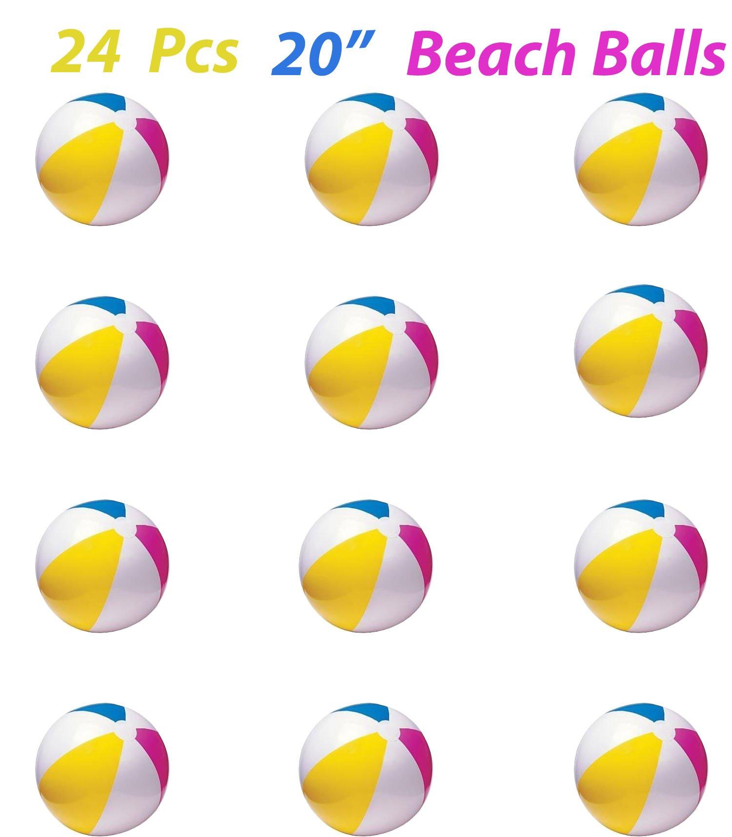 Rhode Island Novelty 20 Inch Beach Ball (24 Piece Per Order) (2) by Rhode Island Novelty