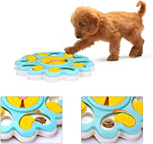 Tineer Pet Dog Food Puzzle Toy,Puppy Cat Treat Dispenser Feeder Interactive Slow Feeder Bowl Improve IQ Training Game - Safe and Easy to Clean