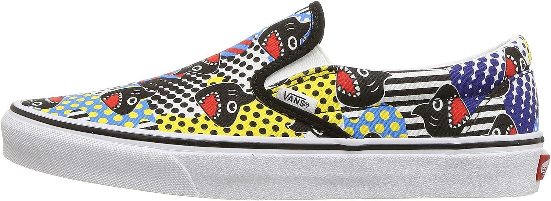 Vans Kids x Discovery's Shark Week Collaboration Skate Shoe (2 Little Kid M, (Shark Week) Phin/True White)