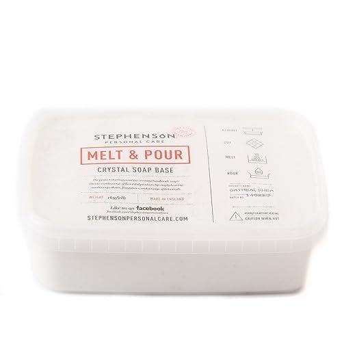 Derretir y verter Base de jabón - ornamentos florales y manteca de karité - 5 kg: Amazon.es: Hogar
