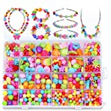 Augenblick Jewelry Beads Set Accessories Toys Mixed Kids Beads for Children's DIY Bracelets Necklace Early Childhood Educational Toys for Children's Day