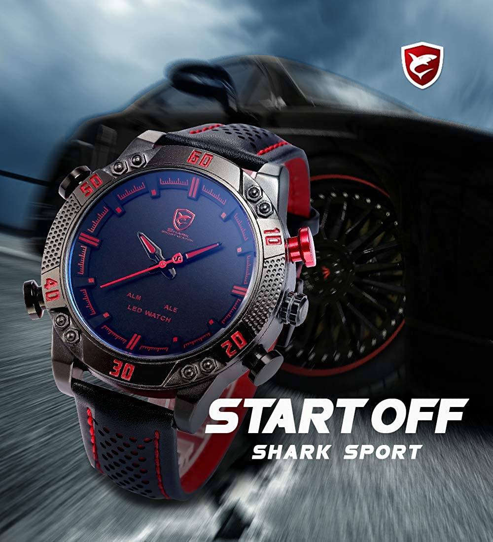 Amazon.com: Shark - Reloj de pulsera analógico digital para ...
