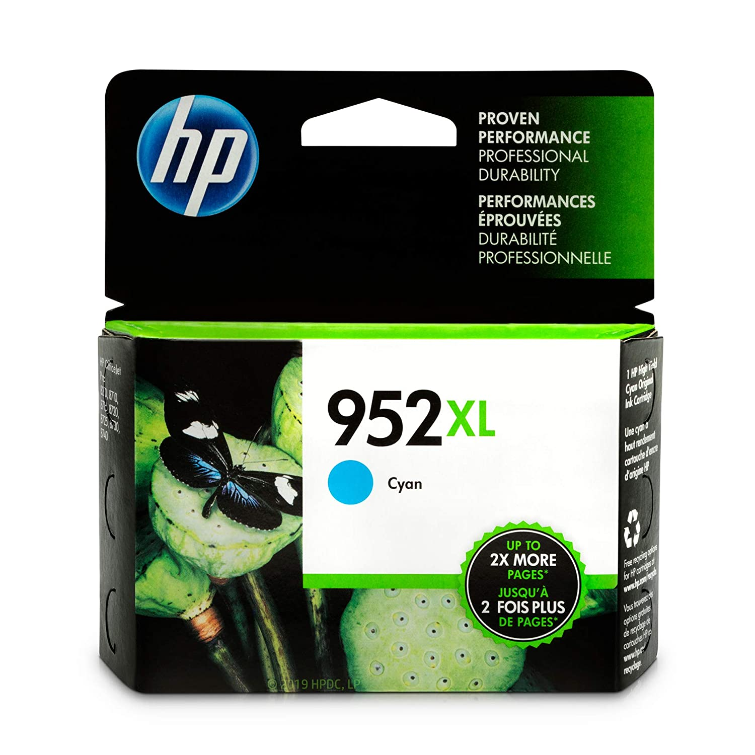HP 952XL Ink Cartridge Cyan (L0S61AN)