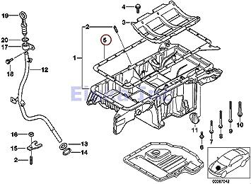 BMW Lower Engine Oil Pan Gasket X5 4.4i X5 4.8is