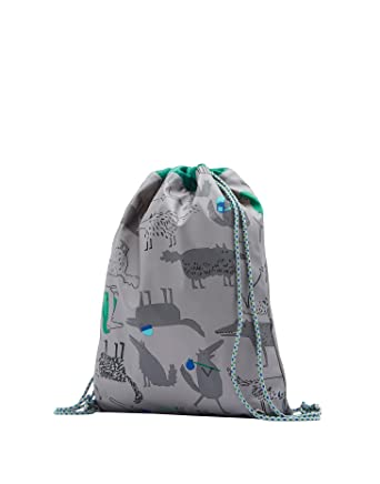 94adefa55c9e Joules Rubber Drawstring Bag - Grey Wolves - Joules Drawstring Bag - Grey  Wolves  Amazon.co.uk  Clothing