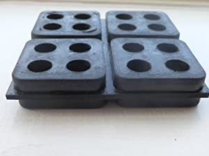"4 Pack of Anti Vibration Pads 4"" x 4"" x 3/4"" All Rubber Vibration isolation pads"