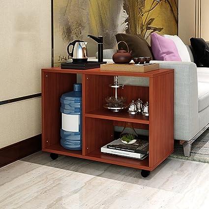 YMXLJF Organizza armadietti, Tavolino da salotto mobile in legno ...