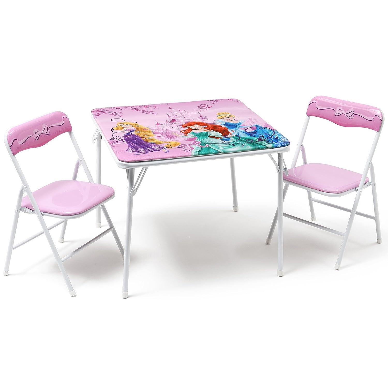 Delta Children - Juego de sillas y mesa plegable Princesas ...