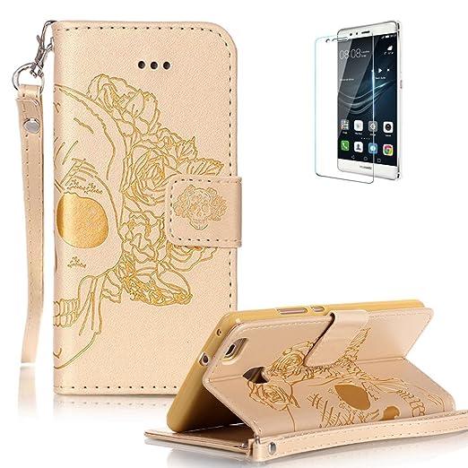 11 opinioni per Custodia per Huawei P9 Lite,Funyye Cover Pelle Elegante Libro Protettiva