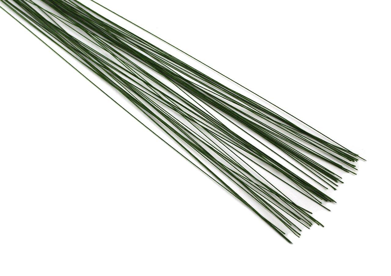 Blumendraht grün Stärke 28g 50 Stück Länge 36 cm: Amazon.de: Küche ...