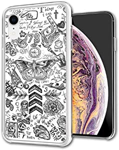 Compatible with iPhone Case Transparent Soft TPU Flexible Corver Case 7 Plus/8 Plus Cover One Direction Tattoos