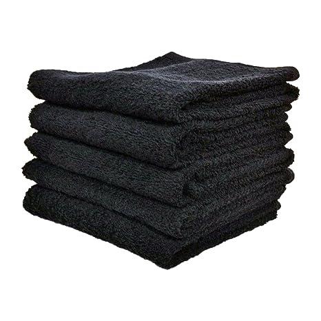 Unidades 20 toallas de peluquería, color negro – 400 g/m²