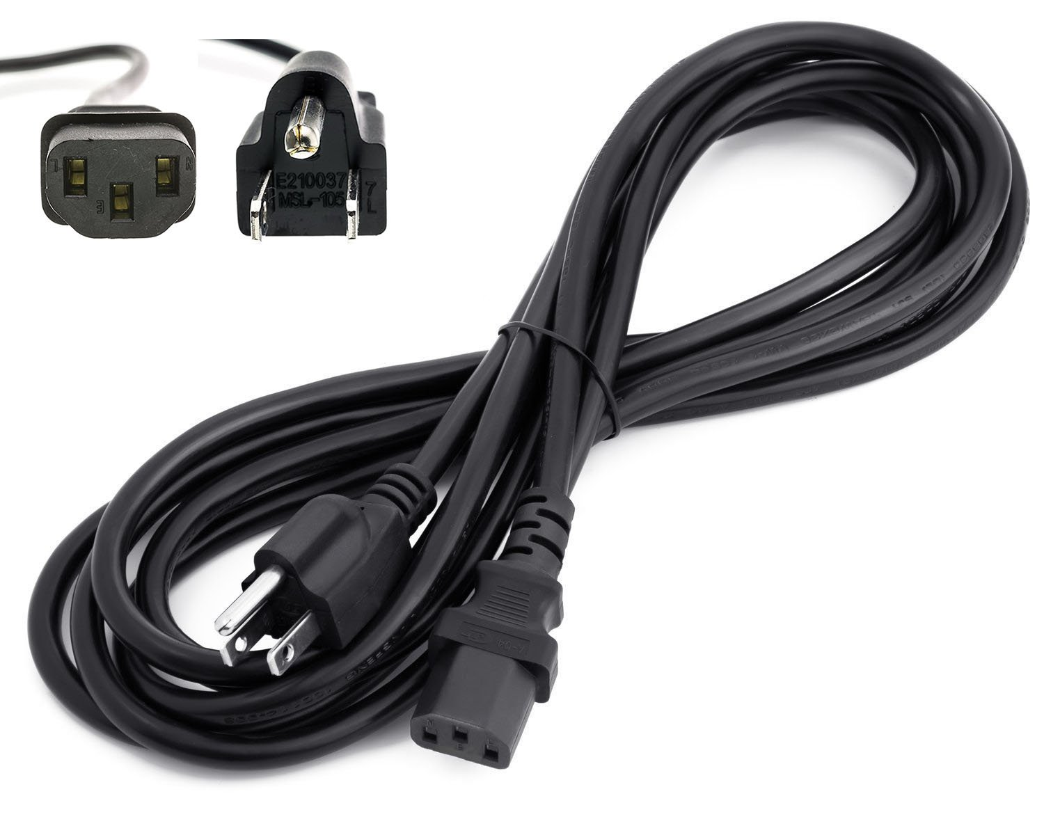 Amazon.com: Amamax® 15 Feet Extra Long AC Power Cord Cable for VIZIO ...