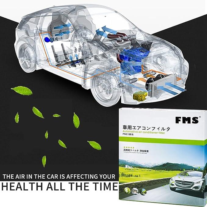 FMS 46A Filtro de Habitáculo Seis Capas Filtro Aire Habitáculo 2*capa de carbón activo filtro antipolen bloquea todas las partículas y los olores (46A): ...