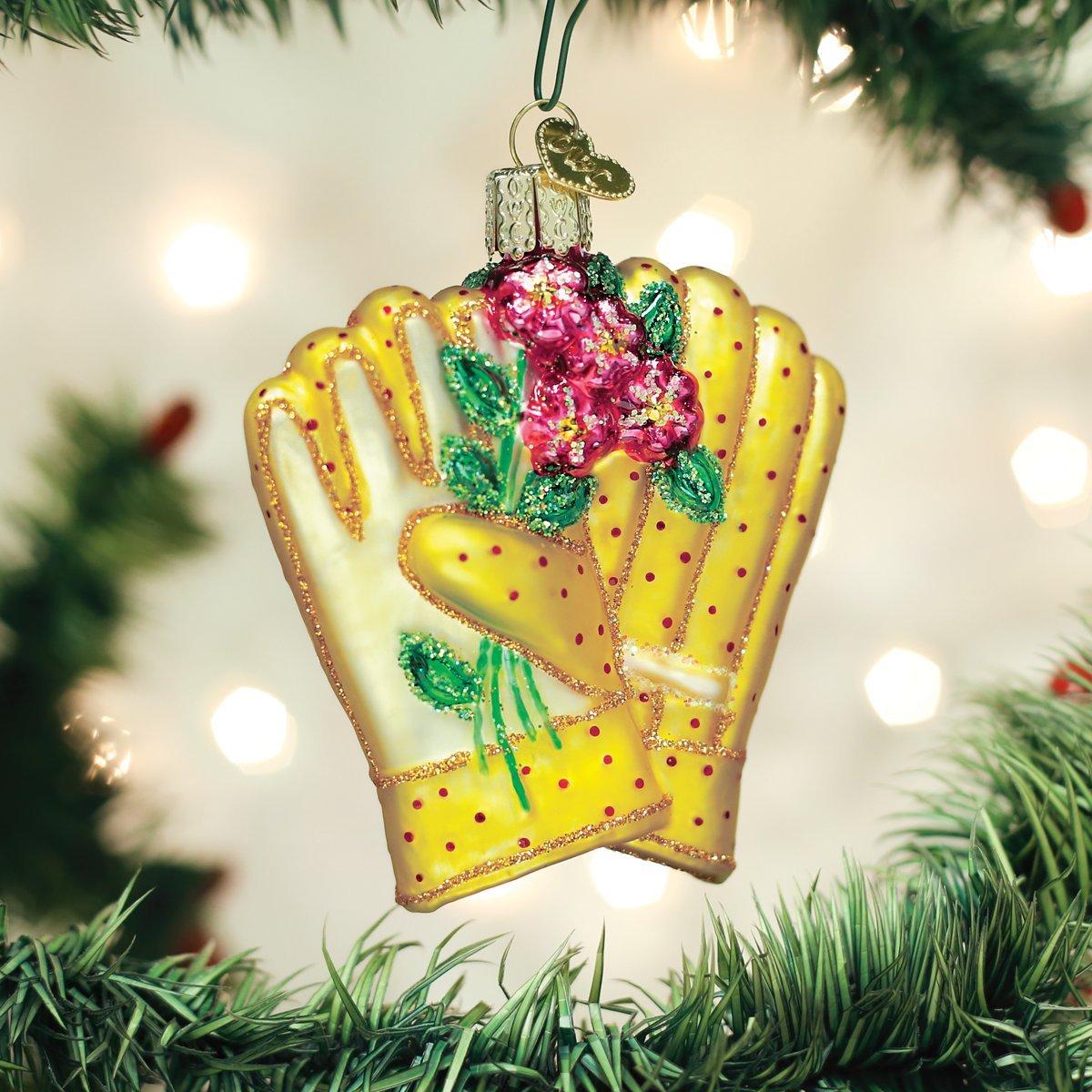 Old World Christmas 32329 Ornament Gardening Gloves