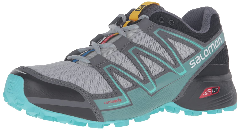 Salomon Speedcross Vario Women's Trail Running Shoes B017USM68I 9 B(M) US|Light Onix/Black/Bubble Blue