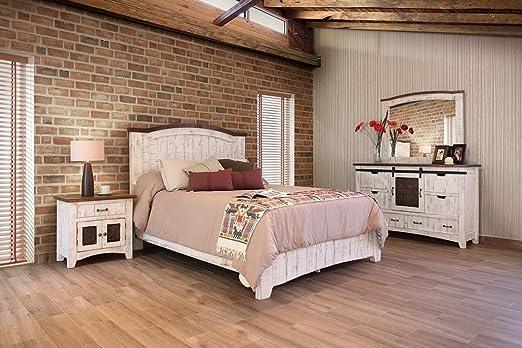 R&R Anton - 5 Puertas correderas de Madera Maciza para Dormitorio con cajones y rodamientos de Bolas, Color Blanco Envejecido: Amazon.es: Juguetes y juegos