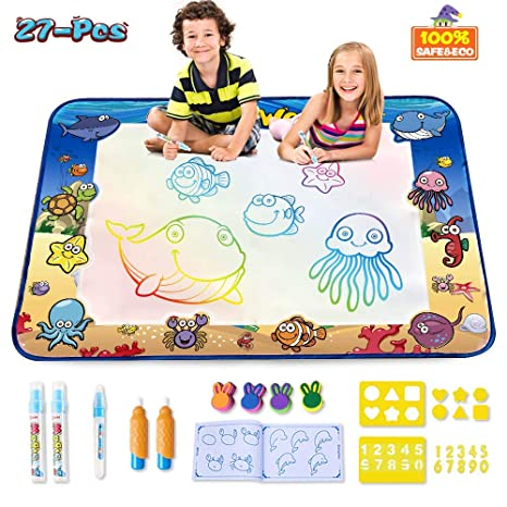 Cpsyub Aquadoodle Matlarge Size 40 28 Inches Kids Toys With Colorful Aqua Magic Matwater