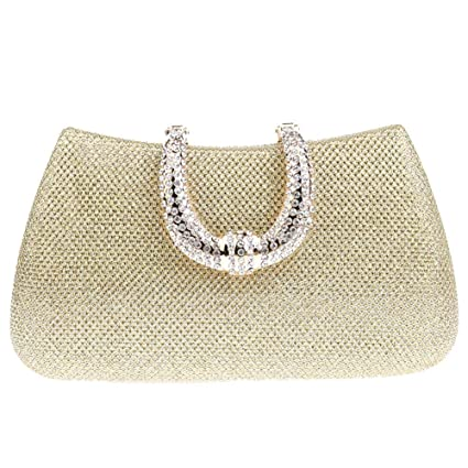 97a04ca14 YOUTO Evening Party Clutch Bags Women Clutch Bag Rhinestone Frosted Classic  Ladies Glitter Bridal Wedding Bag