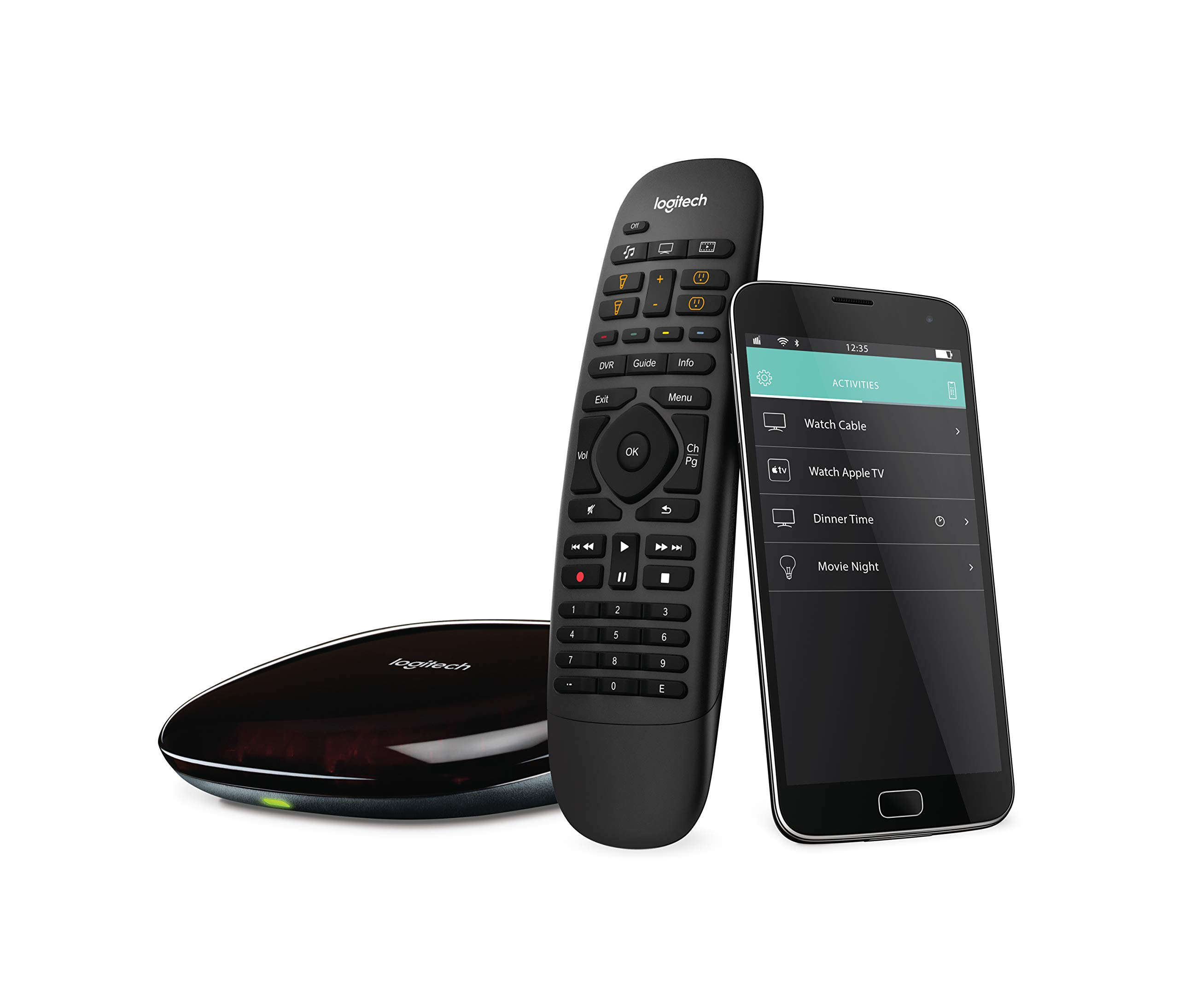 Logitech Harmony Smart Control with Smartphone App and Simple All In One Remote - Black