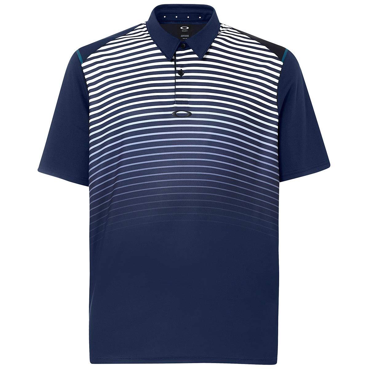 Oakley Mens Polo Shirt Ss Striped Ellipse, Fathom, M: Amazon.es ...