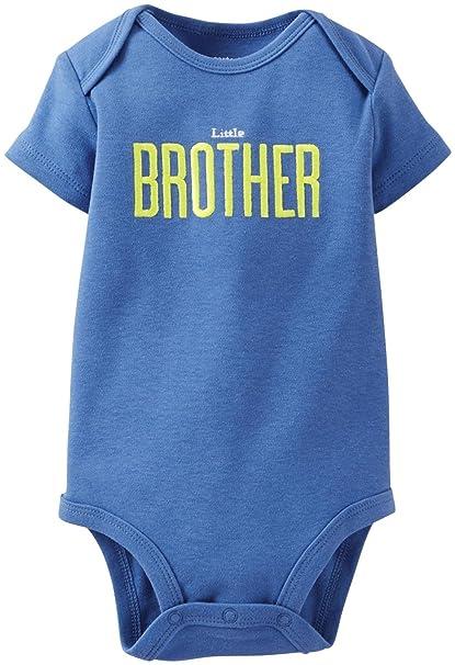 8aba06bfdb47 Amazon.com  Carter s Baby Boys  Graphic Slogan Bodysuit  Clothing