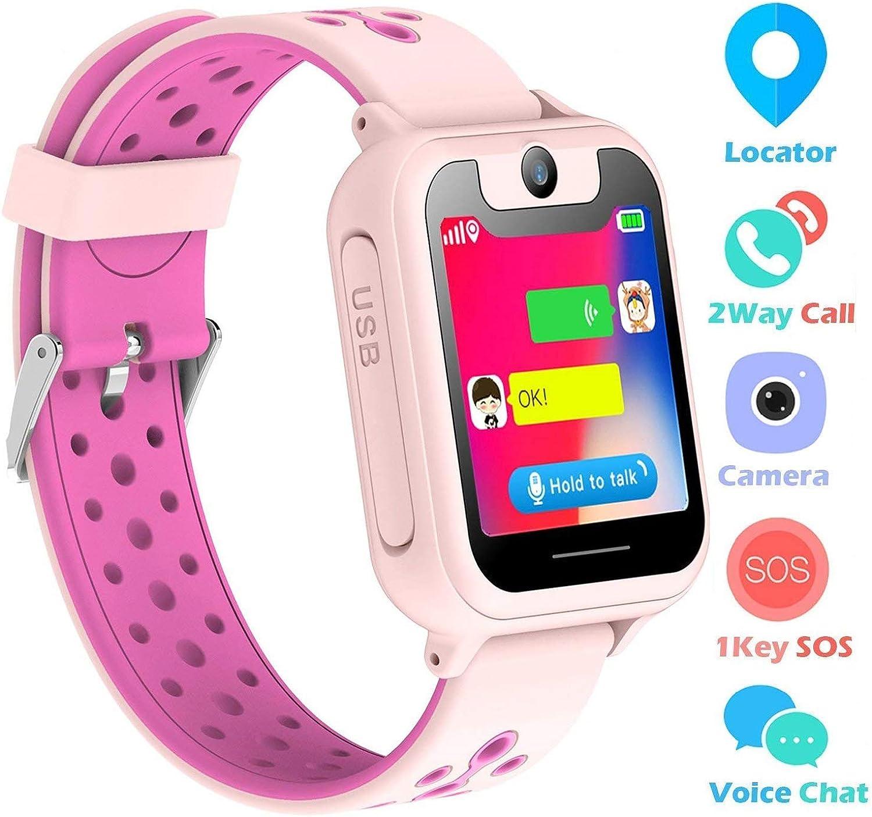 Supoggy Reloj Inteligente Niño LBS Tracker Smartwatch para niños Pulsera Niños SOS Cámara Pantalla Táctil Juego Actividad al Aire Libre Juguetes Regalo para niños para iOS/Android Reloj Niño
