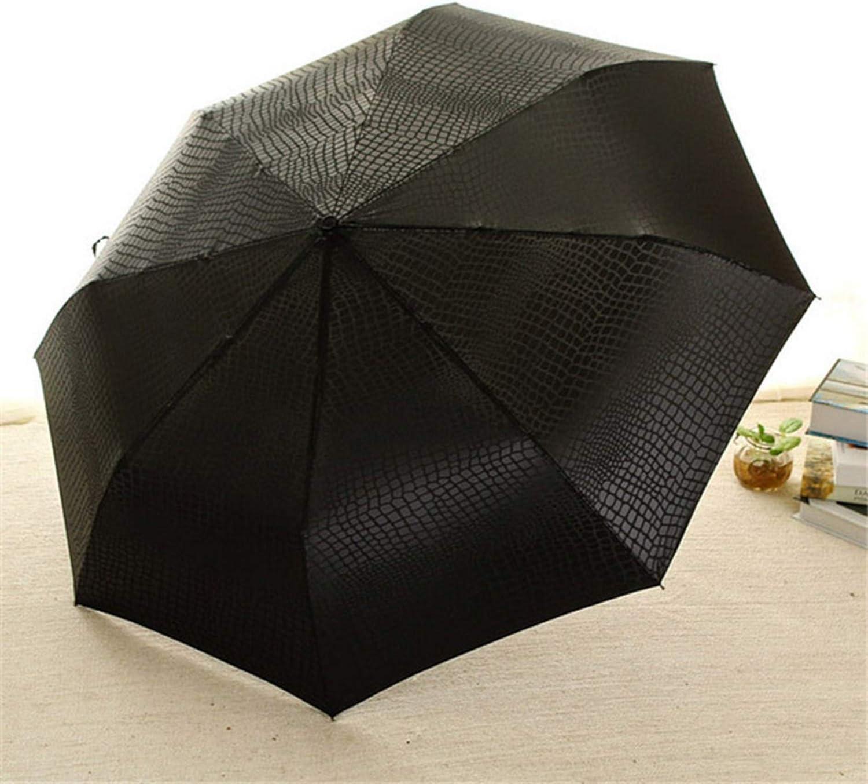 Three folding full automatic snake pattern pattern womens and mens sunny and rainy umbrella,B