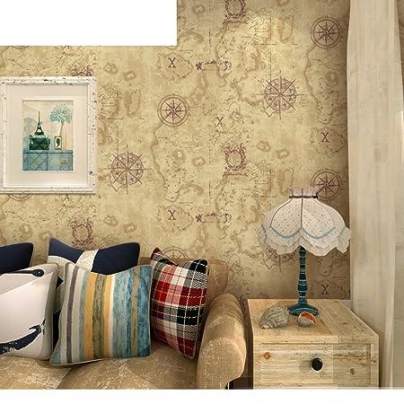 Eastern Mediterranean wallpaper Retro style wallpaper bedroom ...