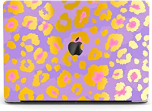 Wonder Wild Case Compatible with MacBook Air 13 inch Pro 15 2019 2018 Retina 12 11 Apple Hard Mac Protective Cover 2017 16 2020 Plastic Laptop Print Golden Spots Purple Leopard Cute Pattern Abstract