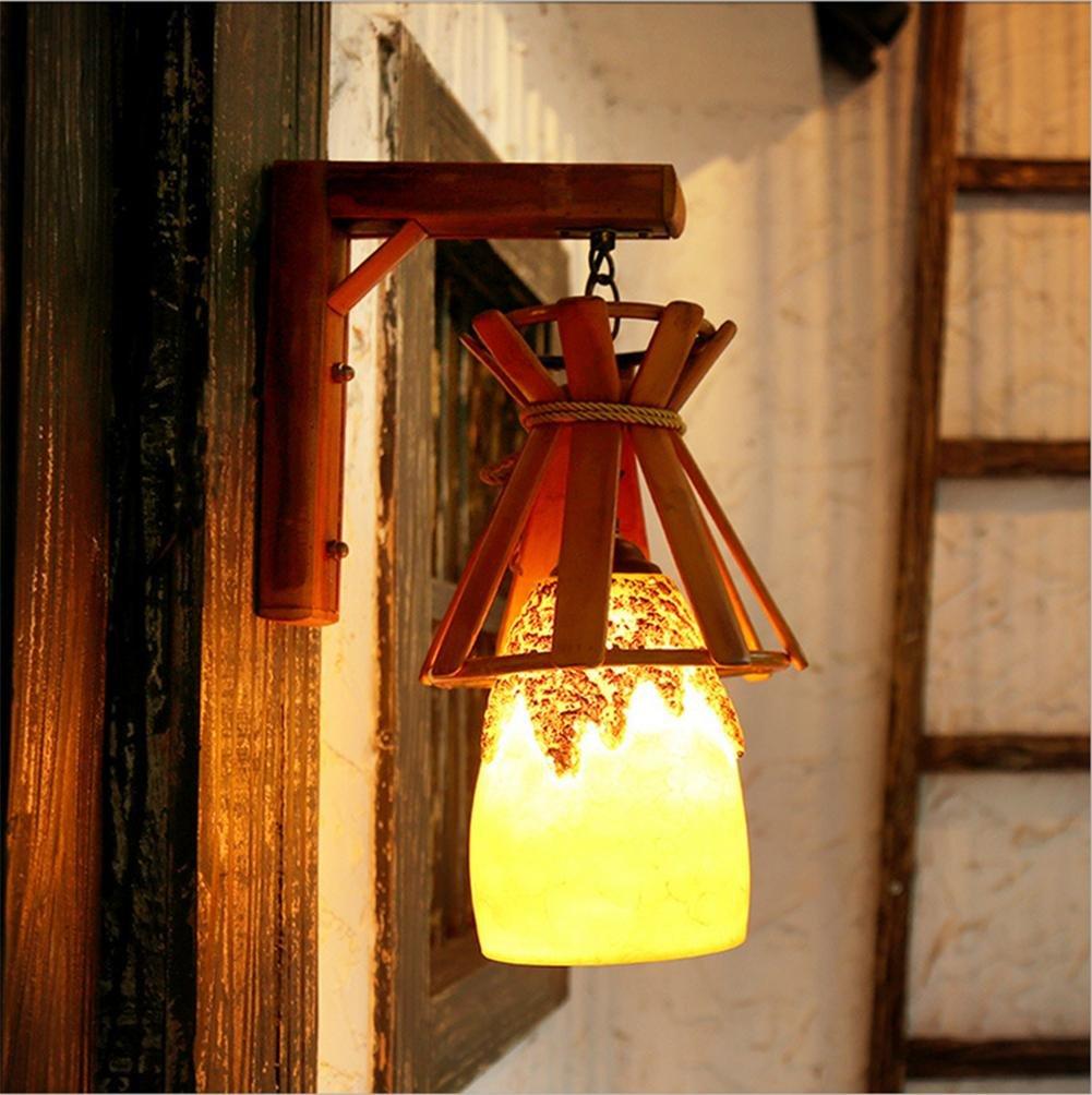 Xh&Yh Terrasse de vent pastoral Créatif Chemin de lumière européen Aisle Art Lights Cafe Bar Résine Lampes murales Ameublement et décoration