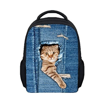bolsos niña viaje Sannysis mochilas escolares niño, Gatos 3d impresiones (03)