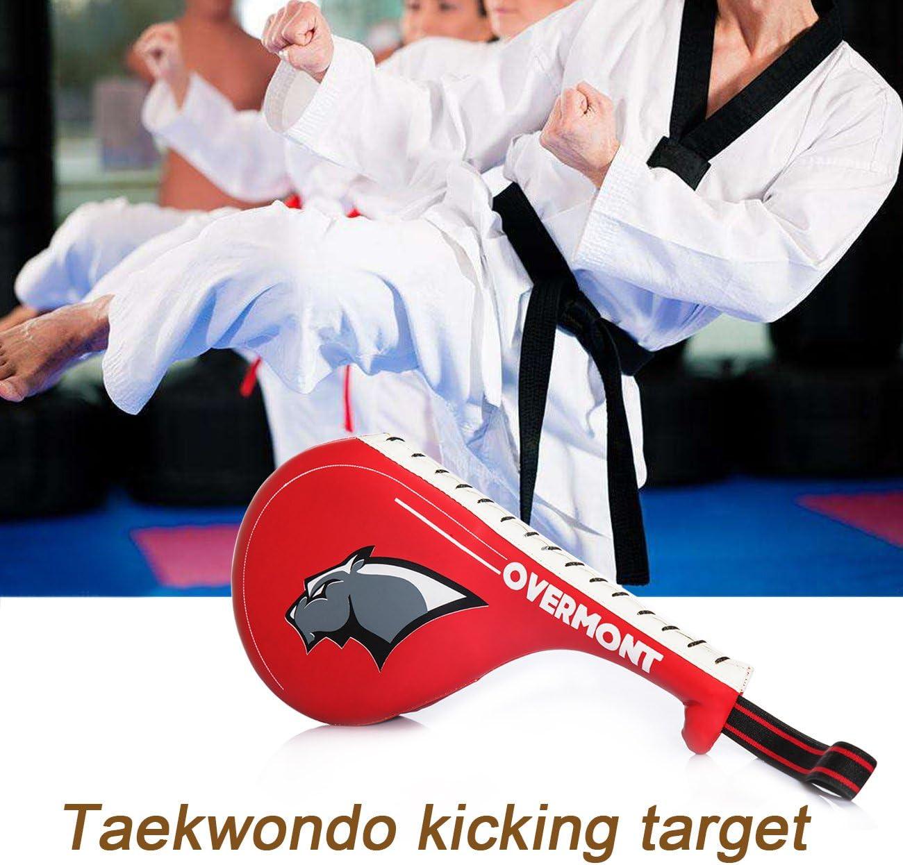 Karate Overmont Scudo Boxing a colpi Kick Pad Doppio Strato di Progettazione Striking Shield Colpitori Target Pad in PU per laddestramento Boxing Muay Boxing Thai UFC Taekwondo MMA Arti Marziali