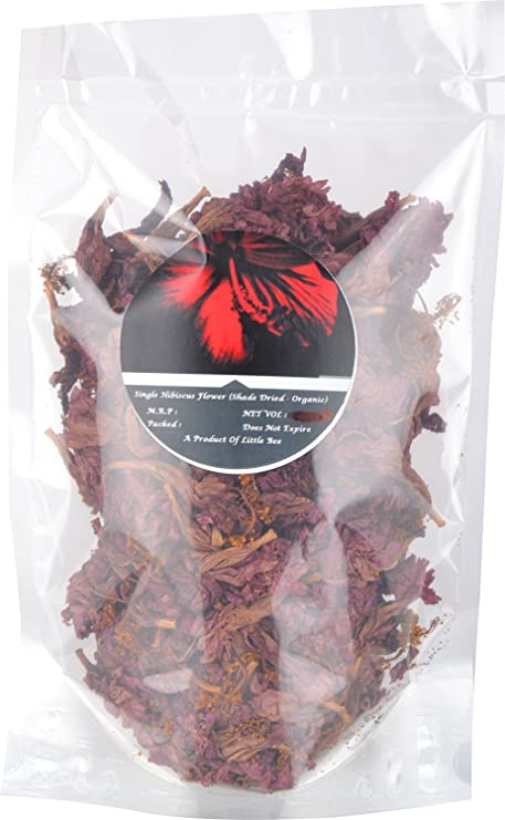 Buy Little Bee Single Shade Dried Hibiscus Flower 50g Online At Low