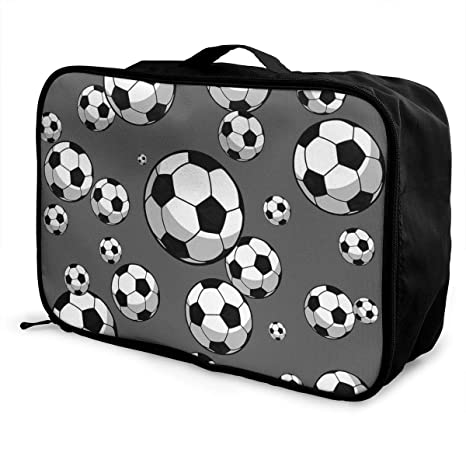 Charm Trend Soccer Football Lightweight Waterproof Large Duffel Travel Bag  Rolling Packable Extra Duffle Luggage Bags e90a1445f80c7