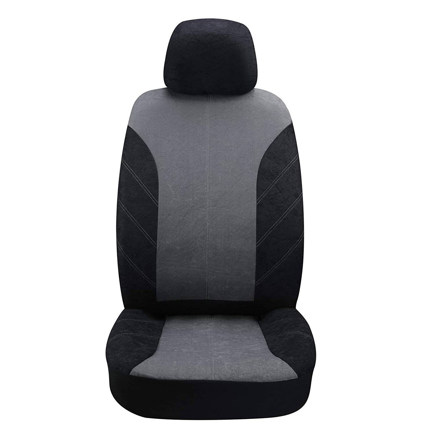 Autojoy Speckled Velvet Car Seat Covers-Breathable,Quick Installation,Auto Protection,Durable-Universal Fit Most Car Truck or Van Black and Grey SUV